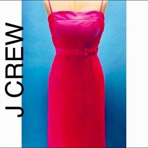 J. Crew Silk Semi Strapless Dress